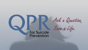 QPR suicide prevention training at Mental Health Greensboro