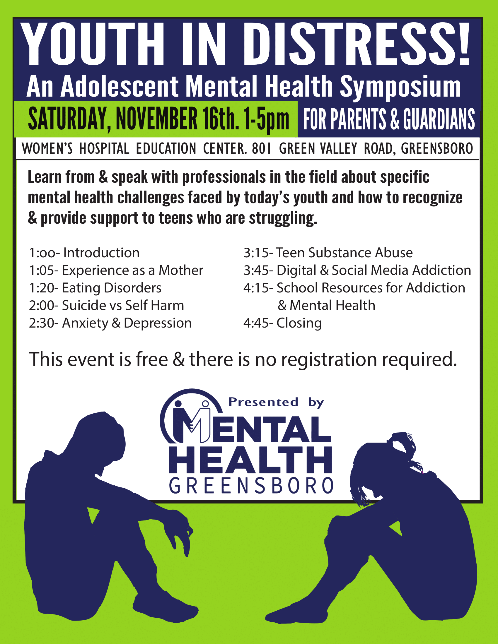 Youth in Distress: Adolescent Mental Health Symposium