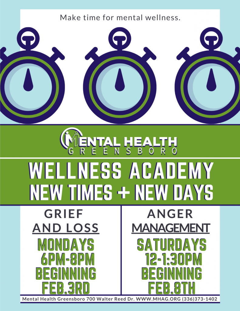 Mental Health Greensboro Wellness Academy Night Classes