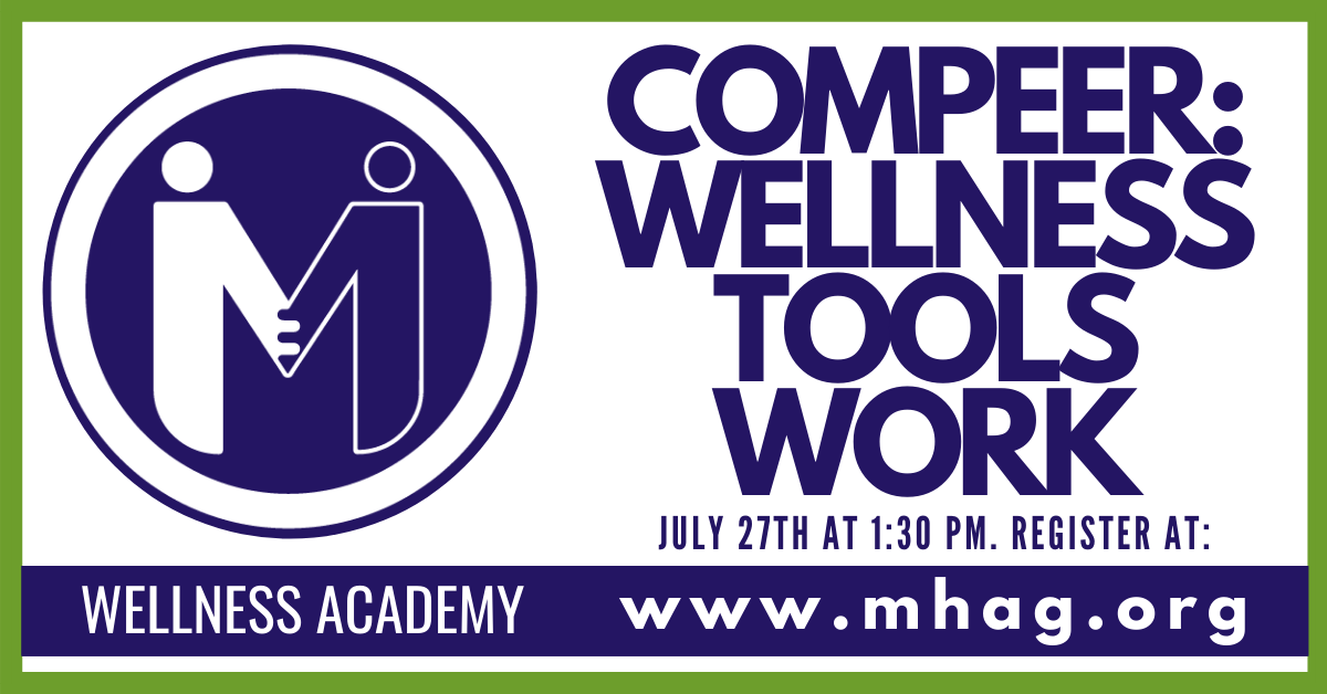 Compeer: Wellness Tools Work - Handmade Greeting Card