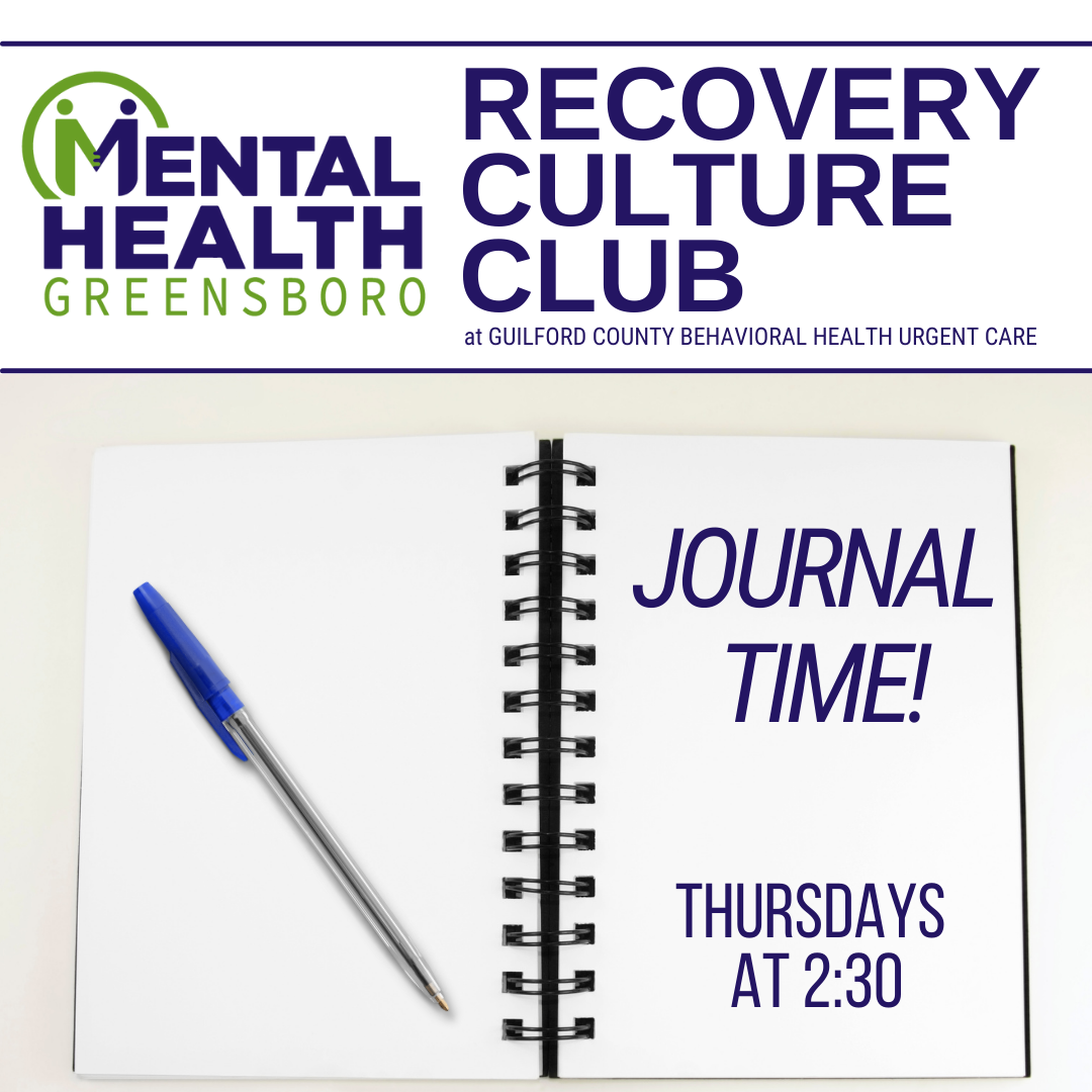 Compeer Thursdays: Journal Time at Recovery Culture Club