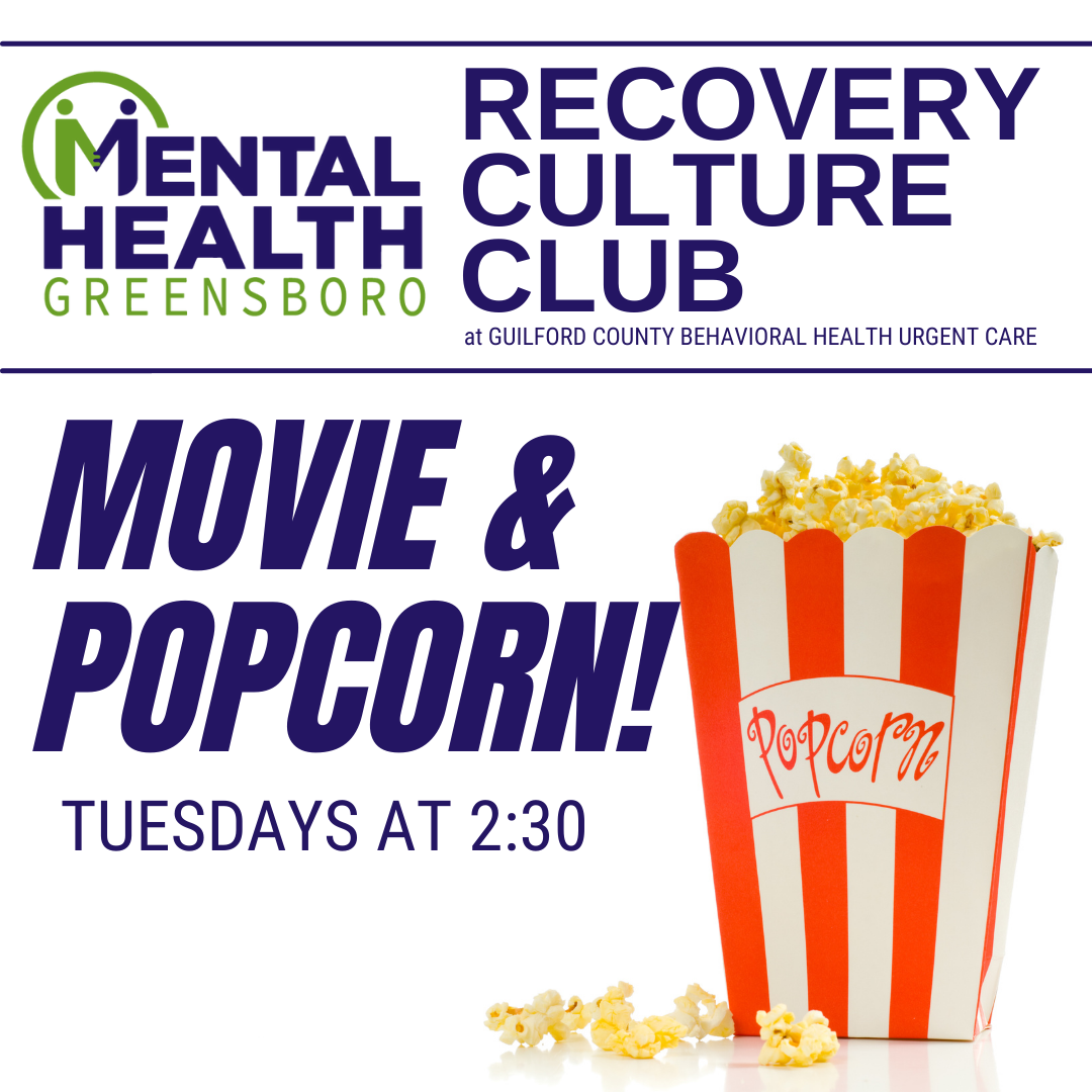 Compeer Tuesdays: Movie & Popcorn at Recovery Culture Club